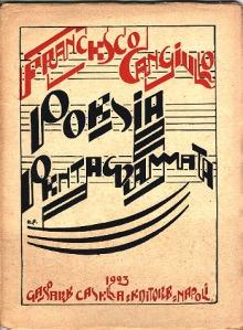 pagina di poesia di Cangiullo