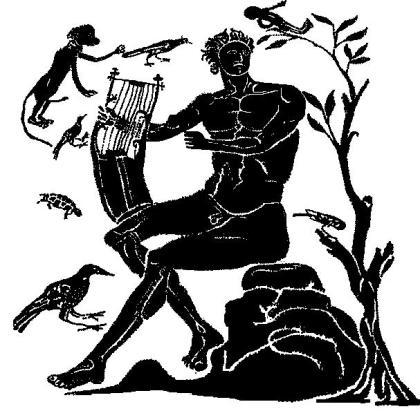 Orfeo suona la lira