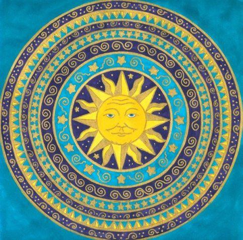 Sole con cerchi