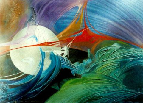 opera di Giuseppe Pedota, ciclo dei pianeti spenti, anni Novanta