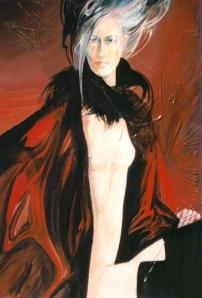 figura in astratto di Giuseppe Pedota anni ottanta