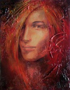 volto femminile di Giuseppe Pedota anni Settanta