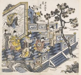 cinese L'empereur_Minghuang_regardant_Li_Bai