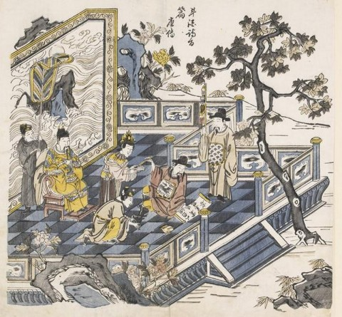 L'empereur_Minghuang_regardant_Li_Bai