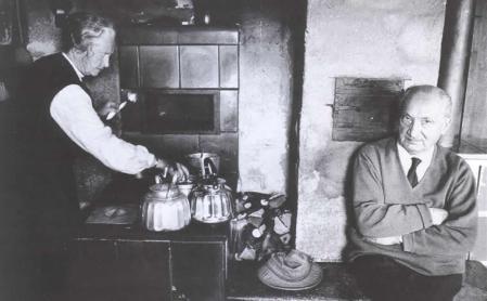 Heidegger in his hut