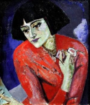 Kuzma-Petrov-Vodkin ritratto di Anna Achmatova