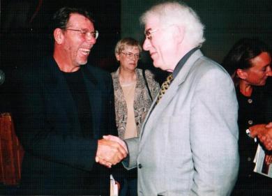 Luigi Manzi con Seamus Heaneay (1981)