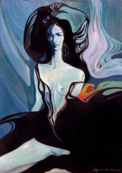 acrilico su tela, anni Sessanta, di Giuseppe Pedota