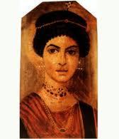 pittura parietale stile pompeiano volto femmimile