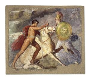 pittura parietale stile pompeiano