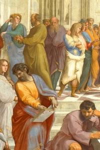 Scuola di Atene, dettaglio