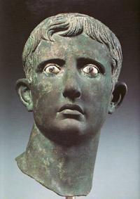 testa bronzea di Augusto