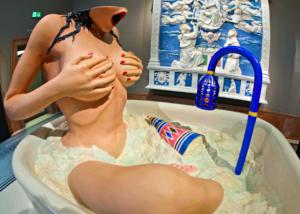 jeff koons nudo in bagno