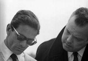 p.p. pasolini e orson welles in La ricotta 1962