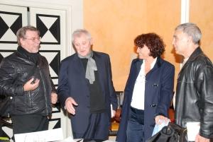 Alfredo de Palchi con  Luigi Manzi e Giorgio Linguaglossa