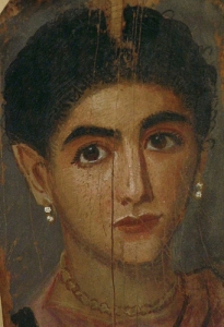 Fayyum ritratto di Donna antica-romana