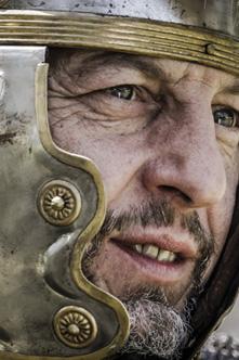 legionario romano sul set