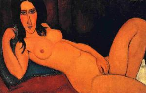 Amedeo-Modigliani-Reclining-Nude-with-Loose-Hair