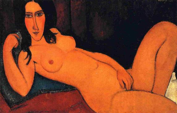 Achmatova Amedeo-Modigliani-Reclining-Nude-with-Loose-Hair