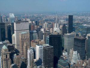 visione aerea di grattacieli