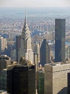 new york il chrysler building visto dagli altri grattacieli