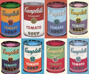 andy warhol campbell-tomato soup parmesan cheese-chilli