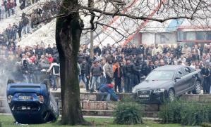 Manifestazione a Tirana