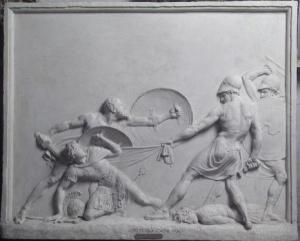 Socrate salva Alcibiade, battaglia di Potidea
