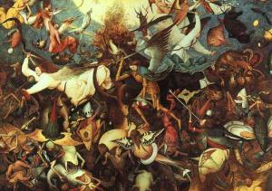 Bruegel il vecchio l'adorazione dei magi sotto la neve