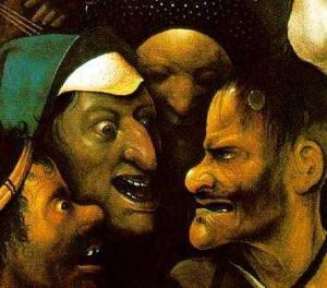 H. Bosch Le tentazioni di sant'antonio particolare