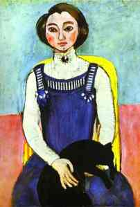 Matisse girl with a-black cat 1910