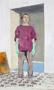 giorgio ortona, ritratto di Letizia Leone,_2012,_olio_su_tavola,_59,8_x_35,6_cm