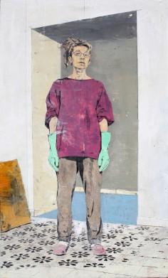 giorgio ortona, ritratto di Letizia Leone, 2012, olio su tavola, 59,8 x 35,6 cm