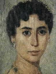 figura femminile romana, affesco