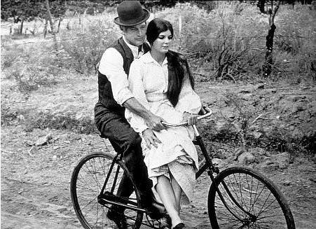 stecher Bicicletta d'epoca con uomo e donna primi 900