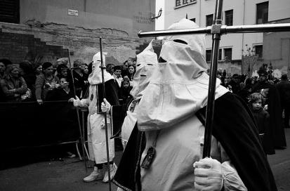 il venerdì santo a Palermo gli incappucciati