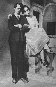 Vladislav Chodasevič  con la moglie Nina Berberova