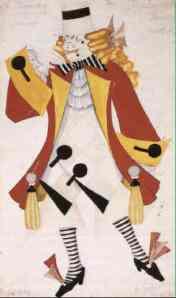 Vladislav Chodasevič Studio per costume teatrale 1921