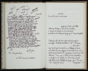 quaderno manoscritto di derek walcott