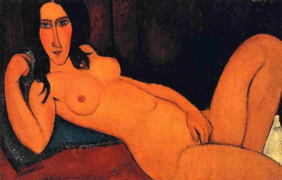 Achmatova Amedeo-Modigliani-Reclining-Nude-with-Loose-Hair