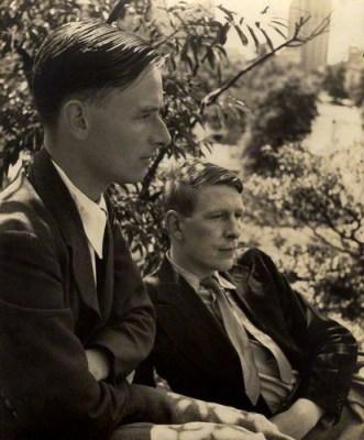 Christopher William Bradshaw Isherwood; Wystan Hugh ('W.H.') Auden by Louise Dahl-Wolfe