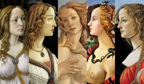 Nascita di Venere di Botticelli, particolari