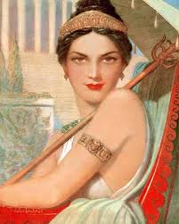 affresco, ritratto di Messalina