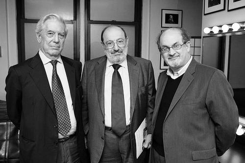 Salman Rushdie, Vargas Llosa, Umberto Eco