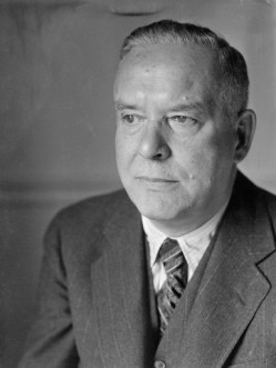 Portrait of Wallace Stevens Wearing a Suit