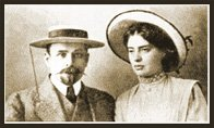 Dmitrij Sergeevič Merežkovskij e sua moglie Zinaida Gippius