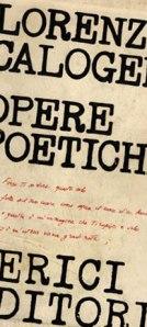 Edizioni Lerici delle poesie di Lorenzo Calogero