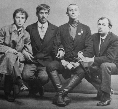 Mandel'stam, Cukovsky, Livshiz, Annenkov 1914 Karl Bulla