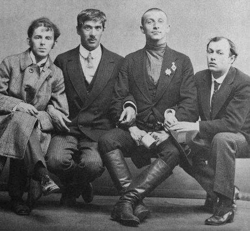 Mandel'stam, Cukovsky, Livshiz, Annenkov 1914 Karl Bulla.