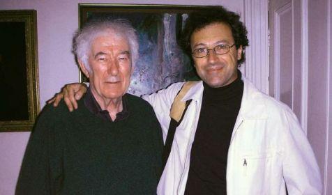 Marco Fazzini e Seamus Heaney (Castledawson, 13 aprile 1939 – Dublino, 30 agosto 2013) in uno dei loro incontri